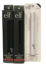 NEW E.L.F Shape/Stay Clear Wax Pencil + 2 Matte Rich Red Lipstick In Package