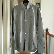 Very Cool BAND OF OUTSIDERS gray flannel button down shirt Sz 2 Made in Italy