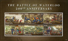 Canouan GREN SAINT VINCENT 2015 MNH Battaglia di Waterloo 6V M / S Edward orme impronte dei timbri