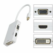Mini Display Port Thunderbolt to VGA HDMI DVI Adapter For MacBook Pro Mac Air UK
