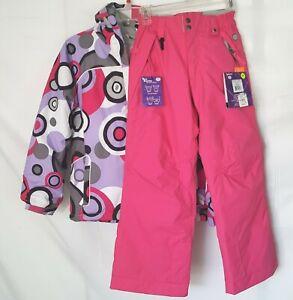 686 Mannual Mia Medium Girls Snow Pants & Jacket Pink/Purple Youth Evolution Adj