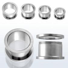 Piercing Dilatatore Flesh Tunnel Ear Expander Acciaio Cromato A Vite  2 / 25 mm