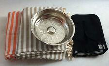Turkish Bath Sauna Set: 2 x Peshtemal Copper Hammam Bowl Kese Mitt