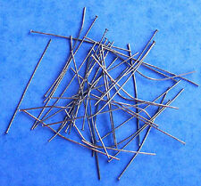 "100 x 2"" black plated headpins, budget range findings for jewellery making craft"