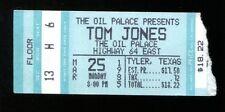 1985 Tom Jones Concert Ticket 3/25/85 Manziel's Oil Palace Tyler Texas 35051