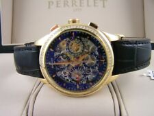 18K Rose Gold PERRELET Dual Time Automatic Chronograph