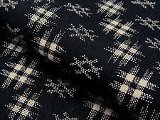 Japanese Fabric_Cotton_Black,Kasuri_Half Yard,#m001