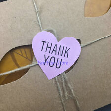 Heart Paper Labels 'THANK YOU' Gift Food Craft Stickers Seals PINK~ 180pcs Hot