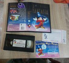 VHS film FANTASIA 1991 animazione WALT DISNEY VS 4347  + cartoline