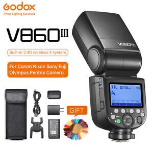 NEW Godox V860III E-TTL HSS 2.4G Flash Light Speedlite for C/N/S/F/O/P Camera