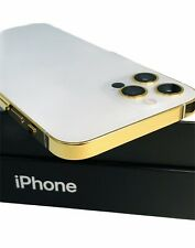 CUSTOM 24K Gold Plated Apple iPhone 12 Pro - 128 GB - Silver - Unlocked CDMA GSM