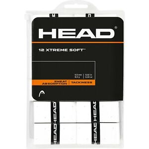 HEAD XTREMESOFT OVERGRIP XTREME SOFT OVER GRIP TENNIS 12 PACK WHITE GRIP PADEL