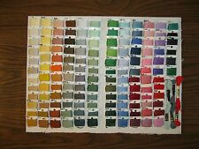 141 Numbered Bobbins Cross Stitch Embroidery Floss Thread Many Colors