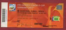 Orig.Ticket    Frauen WM DEUTSCHLAND 2011   ÄQUATORIALGUINEA - BRASILIEN  !!