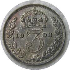 elf Great Britain 3 Pence 1903 King Edward VII