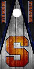 SINGLE Syracuse Orange Cornhole Wrap Skin Decal Vinyl Board NCAA Game NK194