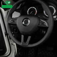 ABS Carbon Look Lenkrad Blenden Rahmen Abdeckung für Skoda Kodiaq Karoq ab 2017