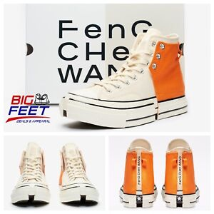 Size 13 Converse x Feng Chen Wang 2 in 1 Chuck Taylor 70 Orange Off White 69840C