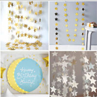 Stars Christmas Hanging Curtain Lights String Net Xmas Home Party Home Decoratio