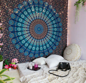 Indian Hippie Mandala Bohemian Psychedelic Handmade Cotton Tapestry