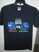 ADULT Size S NFL FOOTBALL SUPER BOWL 2014 SEAHAWKS BRONCOS T SHIRT FREE SHIP!