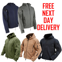 RECON TACTICAL HOODIE ZIP UP FLEECE COMBAT ARMY SECURITY JACKET ALL COLOURS