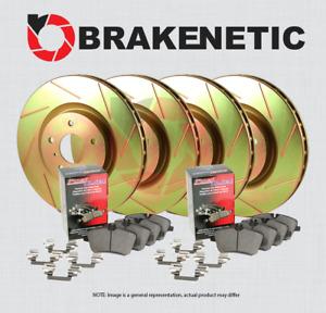 [F&R] BRAKENETIC SPORT SLOTTED Brake Rotors + POSI QUIET Ceramic Pads BPK93576