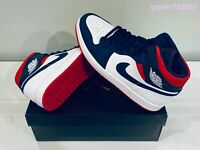NEW Nike Air Jordan 1 Mid USA Olympic (2020) 852542-104 Size 11 100% Authentic