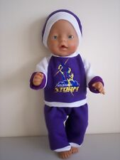 """BABY BORN 17""""  DOLLS CLOTHES STORMS CHEERLEADER TRACKSUIT OUTFIT"""