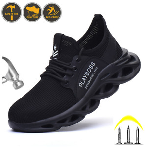 Mens Lightweight Work boots Steel Toe Cap Boots Breathable Sports Hiking boots