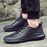 Anti-Slip Wear Resistant Braid Men Running Shoes Breathable Sports Sneaker EX