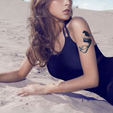 Women Mermaid Tattoo Temporary Stickers Body Arm Art Vivid Tattoo Waterproof
