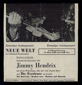 Jimi Hendrix Experience - May 15, 1967 original concert handbill