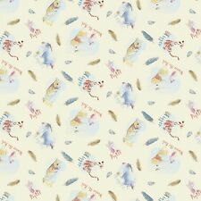 1 yard Disney Winnie the Pooh Friends Feathers Fabric