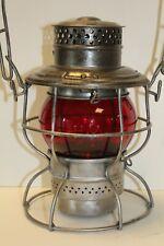 Hocking Valley Railway, HV Ry, A&W Model 250 Railroad Lantern W/Red Cast Globe