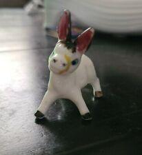 Miniature Porcelain Bone China Donkey Mule Animal Figurine made in Japan