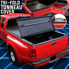 Black Tri-Fold Soft Top Tonneau Cover for 2004-2014 Ford F150 6.5'Bed Flare Side