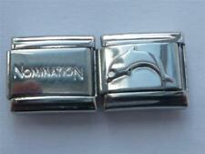 GENUINE LINK NOMINATION ITALIAN CHARM + UNBRANDED DOLPHIN FISH BRACELET CHARM
