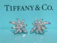 TIFFANY & CO. FIREWORKS  EARRINGS DIAMOND PLATINUM PT950 RARE