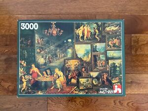 Vintage RARE 3000 Nathan SIGHT AND SMELL Jigsaw Puzzle by Jan Brueghel the Elder