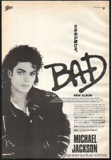 1987 Michael Jackson Bad vintage Japan album promo print photo ad / advert mj10r