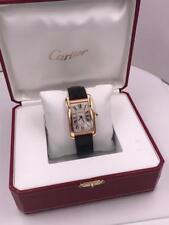 Cartier Tank Americaine Large 2505 18K Rose Gold Watch With Leather Band