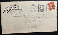 1903 Sharon PA Usa Advertising Cover To Warsaw NY Heinz Photographer