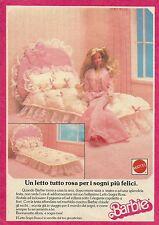 X1132 BARBIE - Un letto tutto rosa - Mattel - Pubblicità 1989 - Advertising
