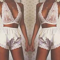 Women Sexy Lingerie Lace Dress Underwear Sleepwear Nightwear Pajama Set G-string