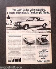 P717 - Advertising Pubblicità -1974- FORD CAPRI II , DUE VOLTE MACCHINA