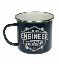 Engineer Camping Enamel Tin Metal Mugs Cups Outdoor Gardening Picnic New