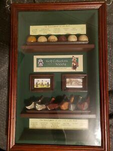 Golf Collectors Society Shadow Box W/ The Development of Golf Balls and Clubs