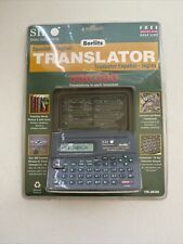 Sii Seiko Instruments Spanish English Pocket Translator Tr-2020 New Sealed Pack