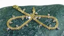 Echte Edelmetall-Armbänder ohne Steine im Kette-Stil aus mehrfarbigem Gold für Unisex